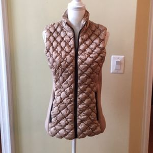 Marc New York Camel Brown Quilted Vest